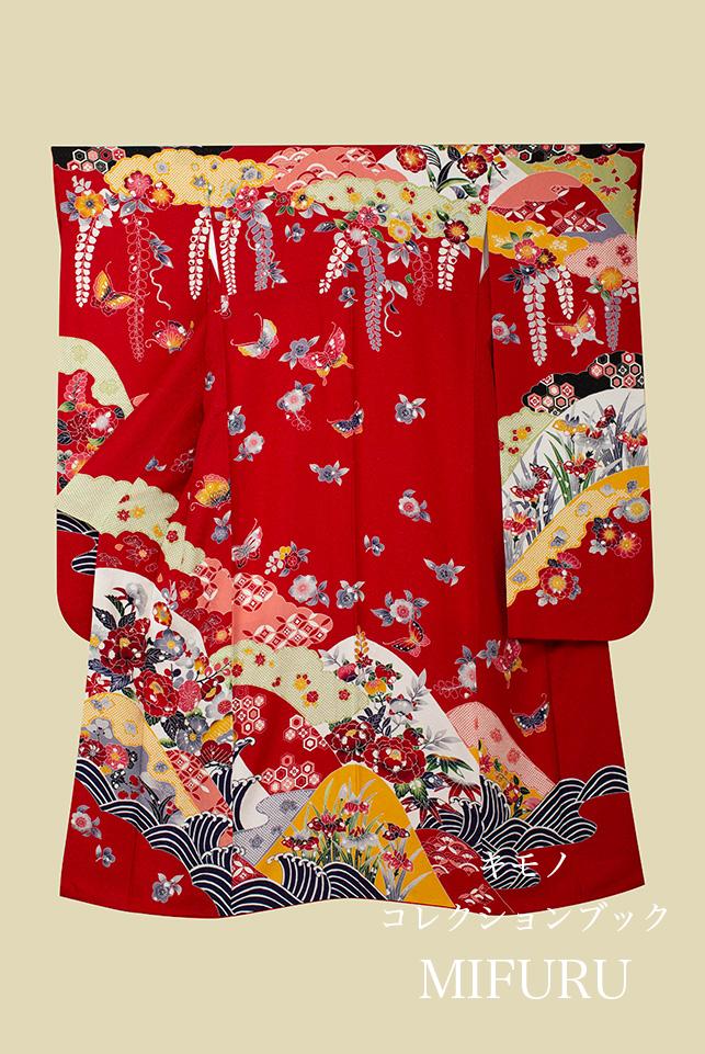 R様 紅型模様お振袖×華紋 錦織帯